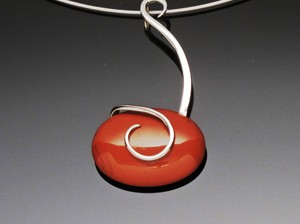 Pendant with Red Jasper Stone by A Fork in the Road